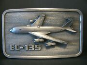 Usaf Air Force Boeing Ec135 Airplane 1984 Belt Buckle Military Aviation Aircraft