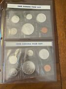 Canadian Mint Proof Sets 1965 And 1966 Silver Sealed