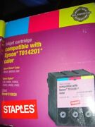 Compatible Staples Brand For Epson T014201 Color Stylus Ink Cartridge