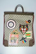 Andnbspcourrier Drawstring Backpack Gg Coated Canvas With Applique Medium