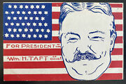 Mint Usa Picture Postcard Political W H Taft For President
