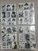 1964 Topps Beatles Black And White Complete 165 Card Set Series 1,2,3 In Binder H3