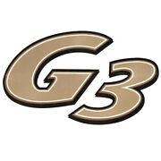 G3 Boat Brand Decal 144371-02   Gold Off White Black 12 X 7 1/4 Inch