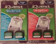 Leap Frog Iquest Science/math Cartridges A And B Grades 6-8 New Sealed