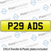 P29 Ads Adam Ash Tony Andy As Cherished Private Number Plate Dvla Registration