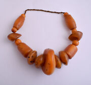 Large Antique African Moroccan Amber Beads Strands-resin-faux Amber- 570 Gram