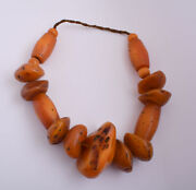 Large Antique African Moroccan Amber Beads Strands-resin-faux Amber- 580 Gram