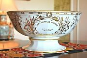 Huge Historical Antique Military Captain Charles Christie Bow Chelsea Punch Bowl