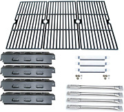 Parts Kit Charbroil Gas Grill Burner Carry-over Tubes-heat Plate+cooking Grid