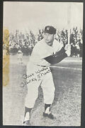 1958 Sherman Tx Usa Rppc Signed Postcard Cover Mickey Mantle New York Yankees