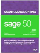 Sage 50 Quantum 2021 U.s. 4-users Business Accounting Software Dvd