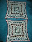 2 Vintage Crocheted Doilies 1 - 24 1 - 22 Square New 65