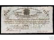 Jersey 5 Pounds P-a1 1840 Without Sign Aunc Rare Money Bill European Bank Note