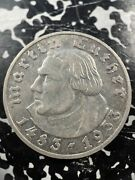 1933-g Germany 5 Mark Martin Luther Lotjm2921 Silver Nice