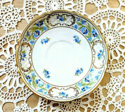 Vtg Schumann Bavaria Forget Me Not Saucer China Replacement Collectible Gift