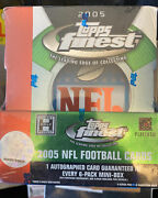 2005 Topps Finest Football Sealed Hobby Box Aaron Rodgers Rc Auto