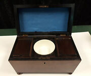 Antique Japanese Ceremonial Hibachi Tea Box. Solid Cherry. Beautifully Preserved