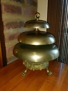Bell Brass Beehive 3 Tier Masonic Gong Temple Claw Feet Hook Table Bell 12 Lrg