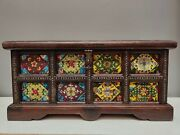 25 Inch Rosewood Inlay Copper Porcelain Plate Painting Jewel Case Jewel Boxes