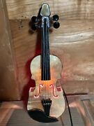 """Stained Glass Handmade Bedside Lamp Ac100v Violin Cocoa"""" From Japa"""