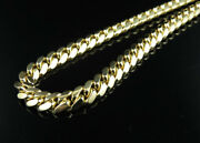 Solid 10k Yellow Gold 6mm Miami Cuban Chain Heavy Link Necklace 22-30 Inches