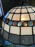 """Stained Glass Handmade Lampshade Ac100v Exceptional Nugget Lamp"""" From Japan New"""