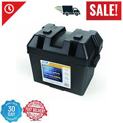 Battery Box Automotive Marine Rv Batteries Plastic Storage Group Lift-off Lid