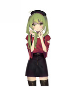 2 Pcs Vinyl Stickers Set For Car And Other Surfaces Cute Anime Girl Green Hair