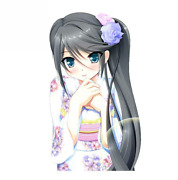 2 Pcs Vinyl Stickers Set For Car And Other Surfaces Cute Anime Girl In Kimono