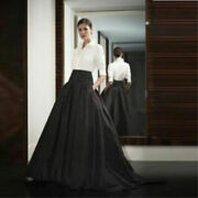 New Womens Black Long Party Skirts Prom Ball Gown Formal Fashion Dress Skirt