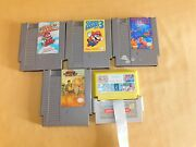 Vintage Toy 4 Nintendo Games Super Mario Bros 2 3 Tetris And 190 In 1 W Converter