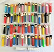 Lot Of 56 Pez Dispensers Star Wars Disney Holiday Halloween Wii Candy Dispensers