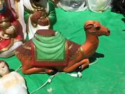 Vintage Empire Christmas Nativity Camel Plastic Lighted Blow Mold - 28 Long