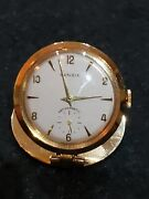 Rare Vintage Rensie Gold Plated Manual Wind Lapel Menand039s Watch