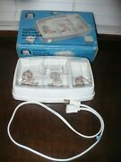 Vintage Gerber Hot 'n Cold Feeding Dish Deluxe Electric W/ Cover Model 3718