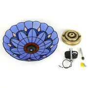 Flush Mount Ceiling Light New Glass Material Stained Glass Lamp Shade Fixture