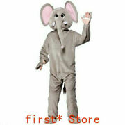 Elephant Mascot Suit Cosplay Outfit Advertising Adult Cartoon Character Clothing