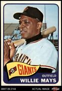 1965 Topps 250 Willie Mays Giants 8 - Nm/mt