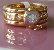 Womenand039s Ring Made Of Gold With Diamonds 22230