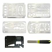 Tiny Survival Card And Hook Sharpener Edc Wallet Survival Trip 5 Tool Card