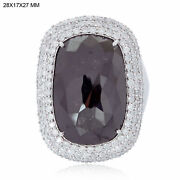 Natural Pave Diamond 925 Sterling Silver Wedding Engagement Womens Ring Jewelry
