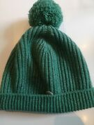 Authentic Cashmere Green Bobble/beanie Hat Brand New