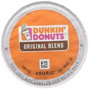 Dunkinand039 Donuts 0845 Original Blend Coffee K-cup Pods Medium Roast 96/ct
