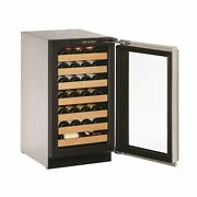 2218wc Wine Captain 18 Reversible Stainless Glass Door - Silver