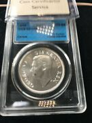1949 Pcgs / Iccs Graded Canadian Silver Dollar Ms-66