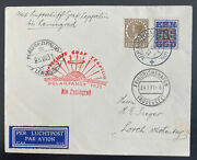 1931 The Hague Netherlands Graf Zeppelin Polar Flight Lz127 Cover To Russia Ussr