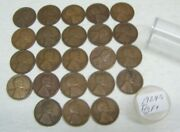 1924 S Lincoln Wheat Cents - Lot Of 23 - Fine +