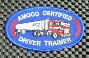 Amoco Certified Driver Trainer Embroidered Patch Gas Oil Uniform 4 X 2