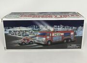 Hess 2005 Emergency Fire Truck With Rescue Vehicle New In Original Box