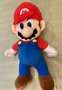 Super Mario Nintendo Large 22 Inch Plush Doll With Back Stuffy Pouch 2015 Euc